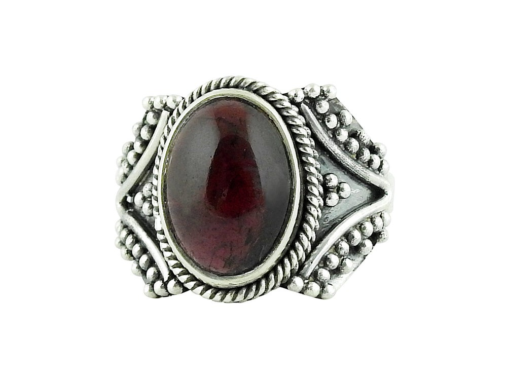 Image of Sterling Silver & Garnet Sirius Ring