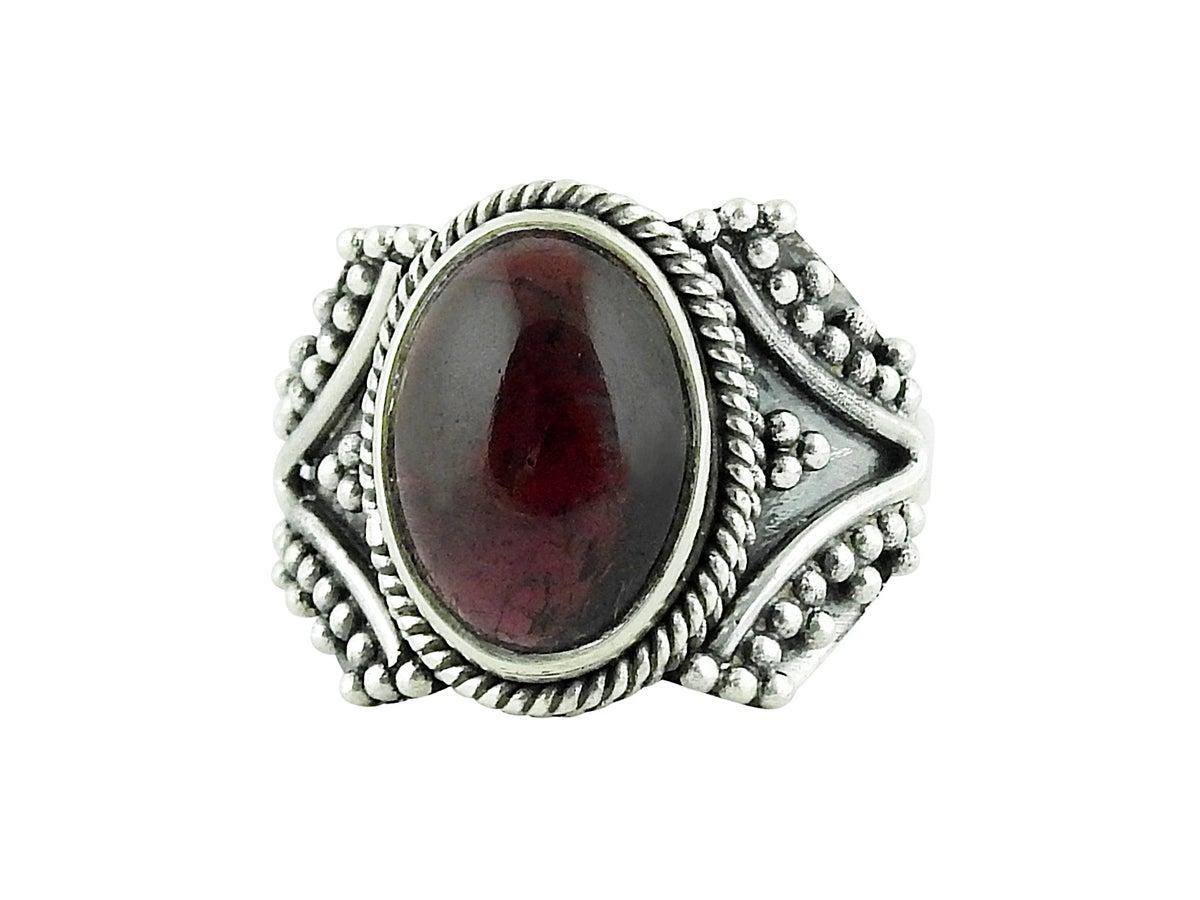 empty casket jewellery sterling silver garnet sirius ring. Black Bedroom Furniture Sets. Home Design Ideas