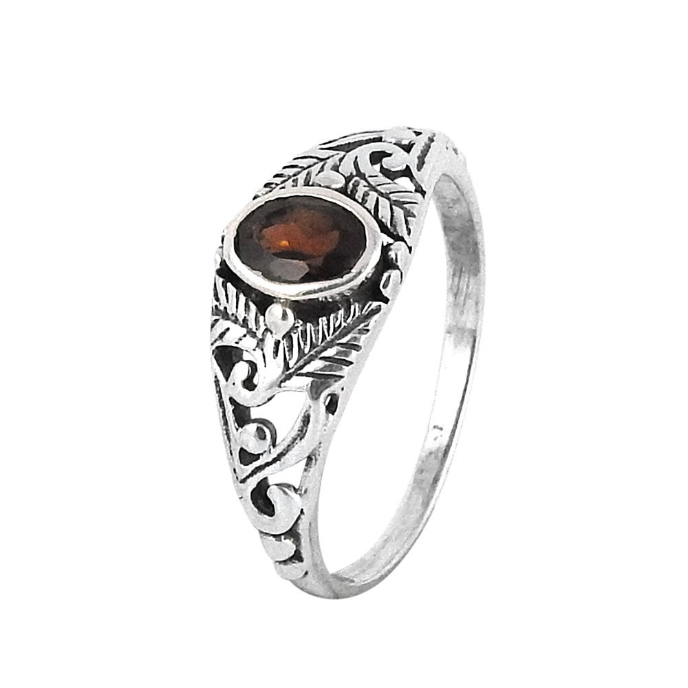 Image of Sterling Silver & Garnet Secret Garden Ring