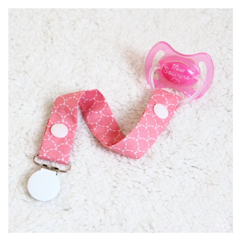Image of Attache tétine ou doudou Bubble Gum Scales