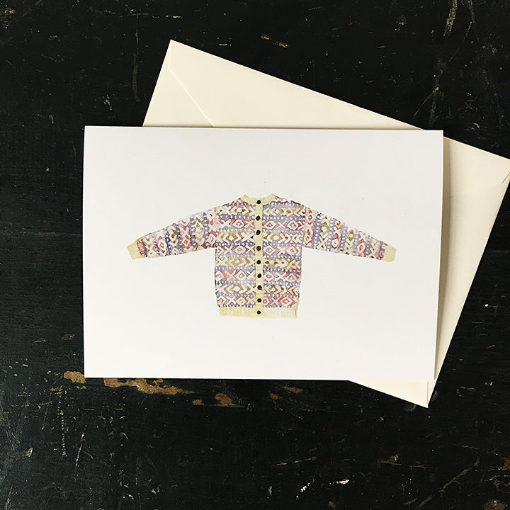 Image of XO sweater greeting card