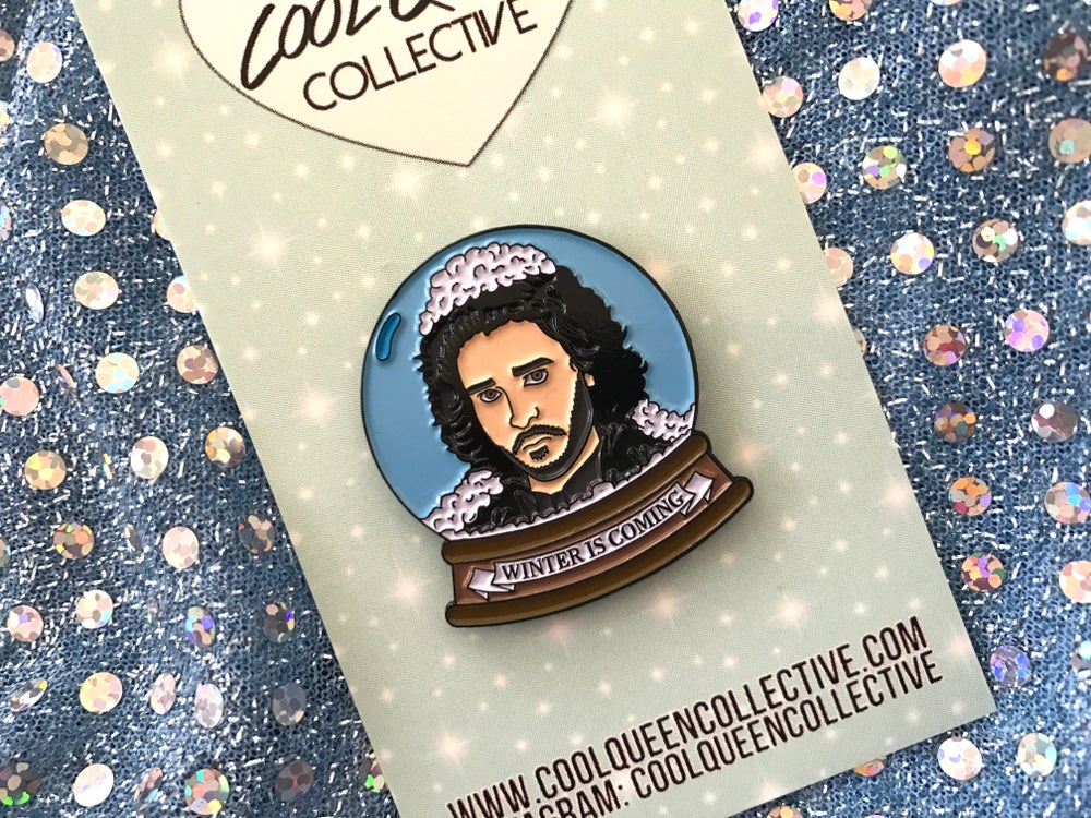Image of Jon Snow Globe V. 1 Enamel Pin