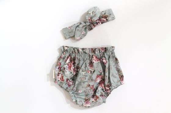 Image of Top Knot Set - Chambray Rose