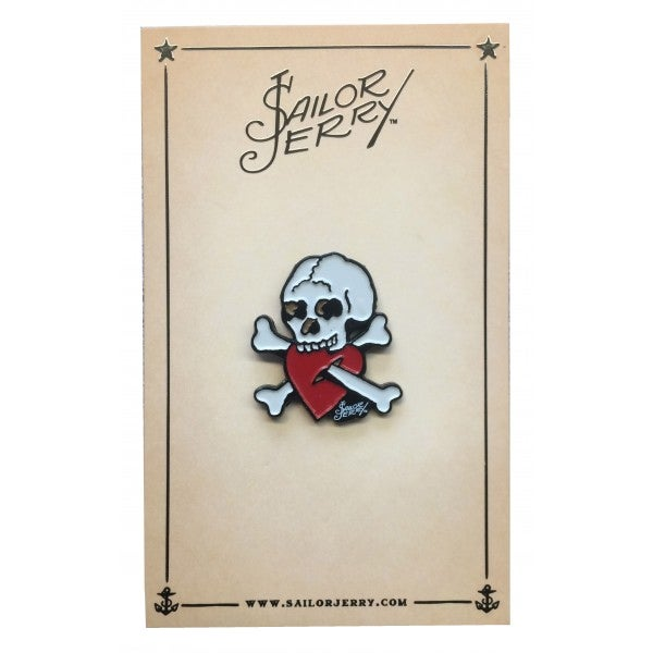 Image of Sailor Jerry 'Crossed Up Bones' Pin