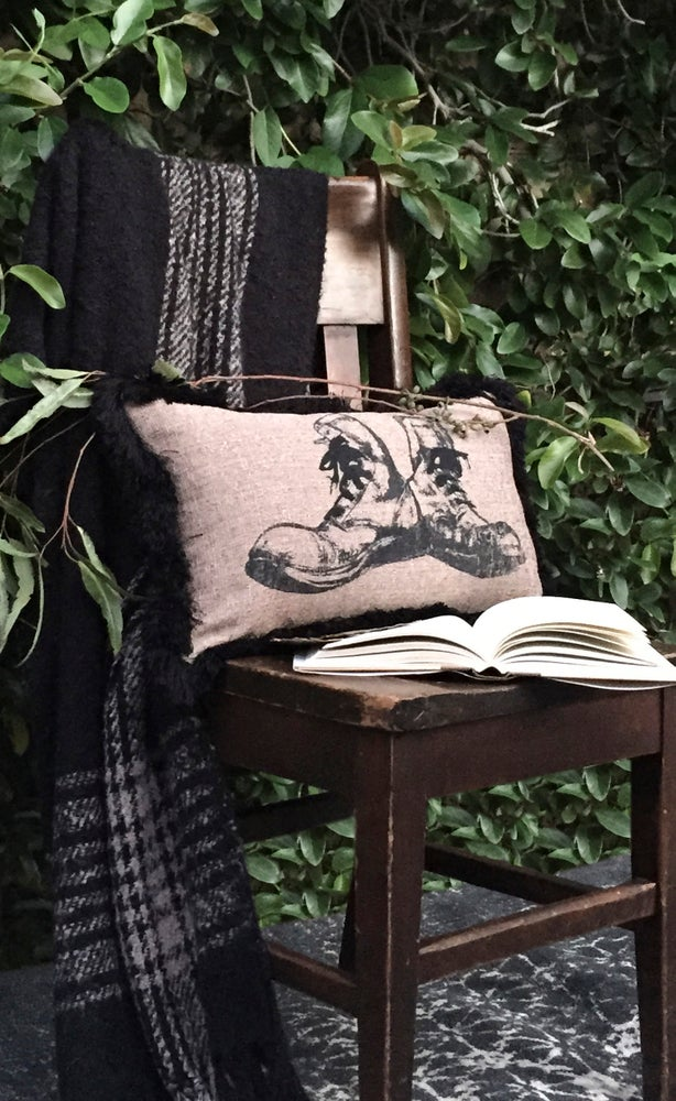 """Image of Boots Pillow 