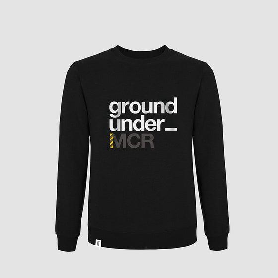 Image of Bedrock Underground Manchester Crewneck in Black