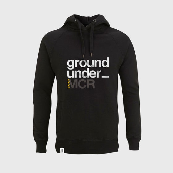 Image of Bedrock Underground Manchester Pullover Hooded Top in Black