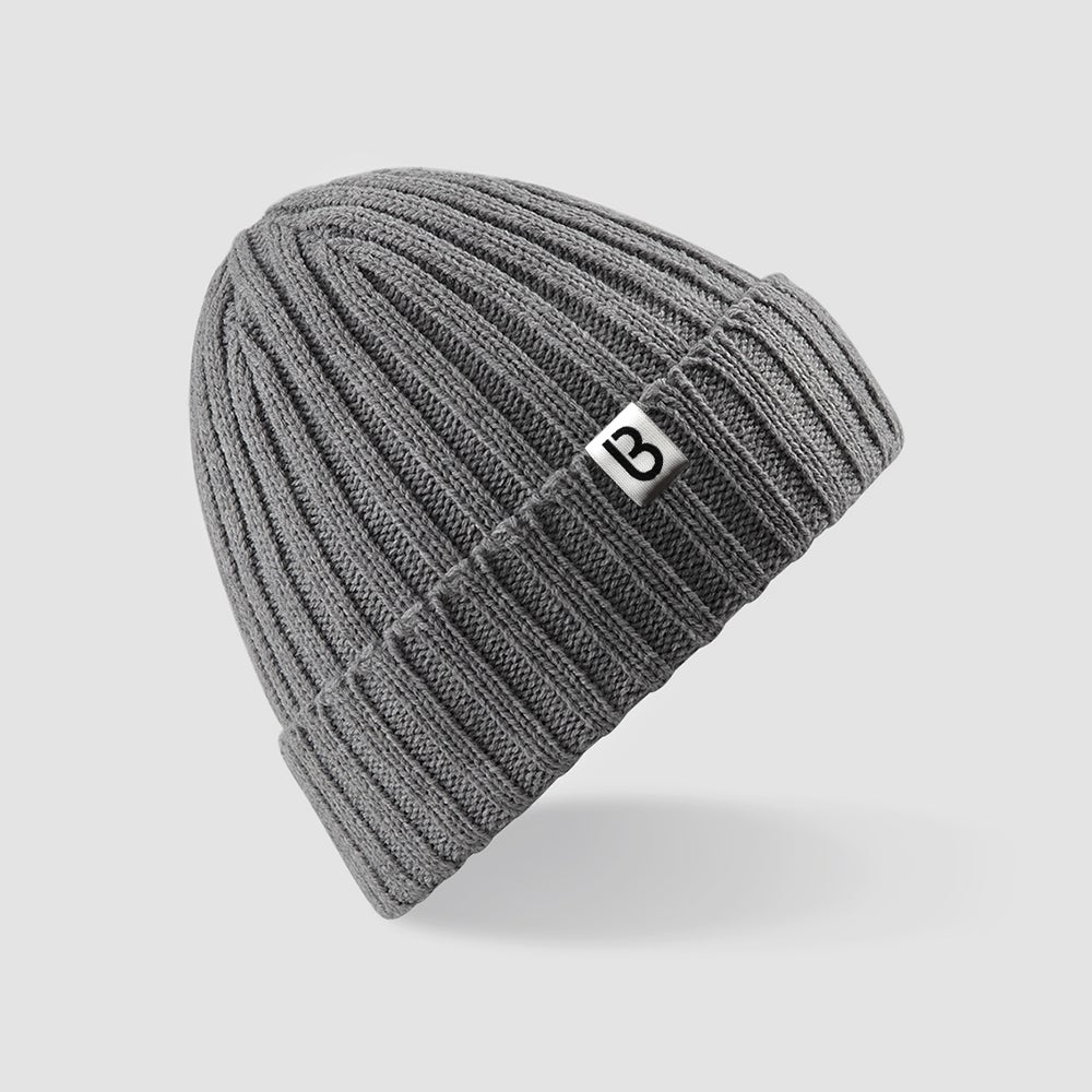 Image of Bedrock Ribbed Beanie in Grey