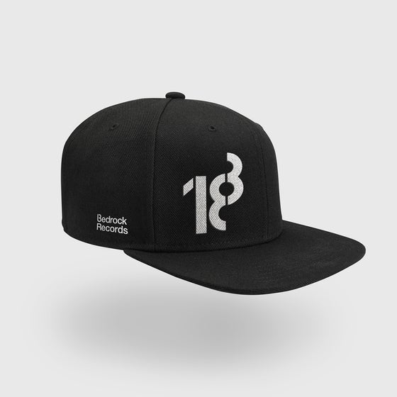 Image of Bedrock 18 Snapback hat with White stitch