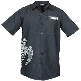 Image of Tatau Turtle Work Shirt Charcoal/Grey
