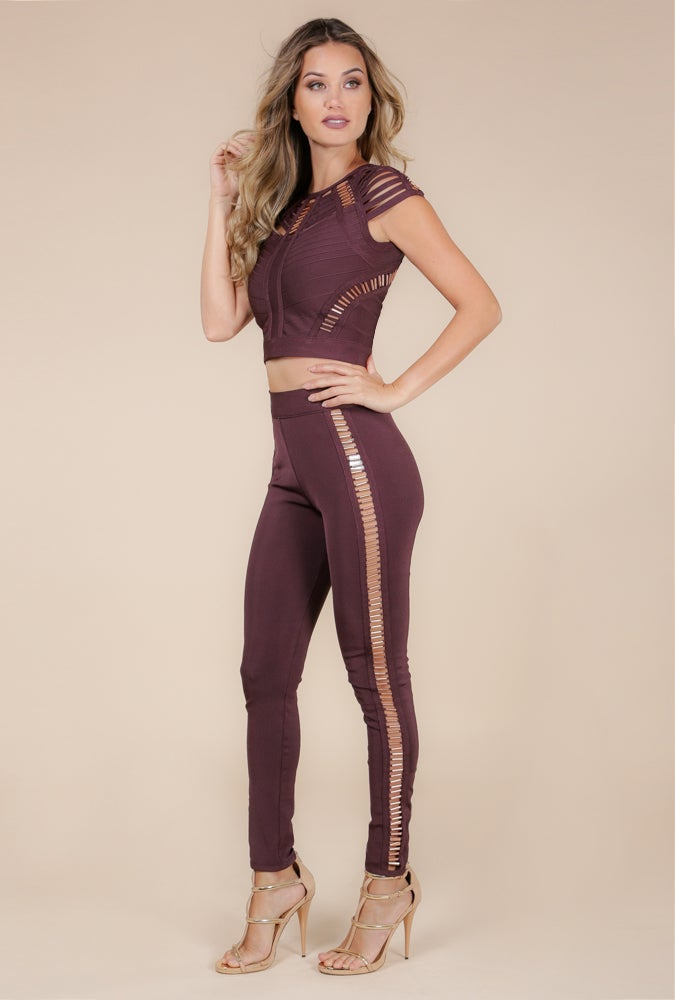 Image of Dark Oak Copper Bandage Two-piece pants set
