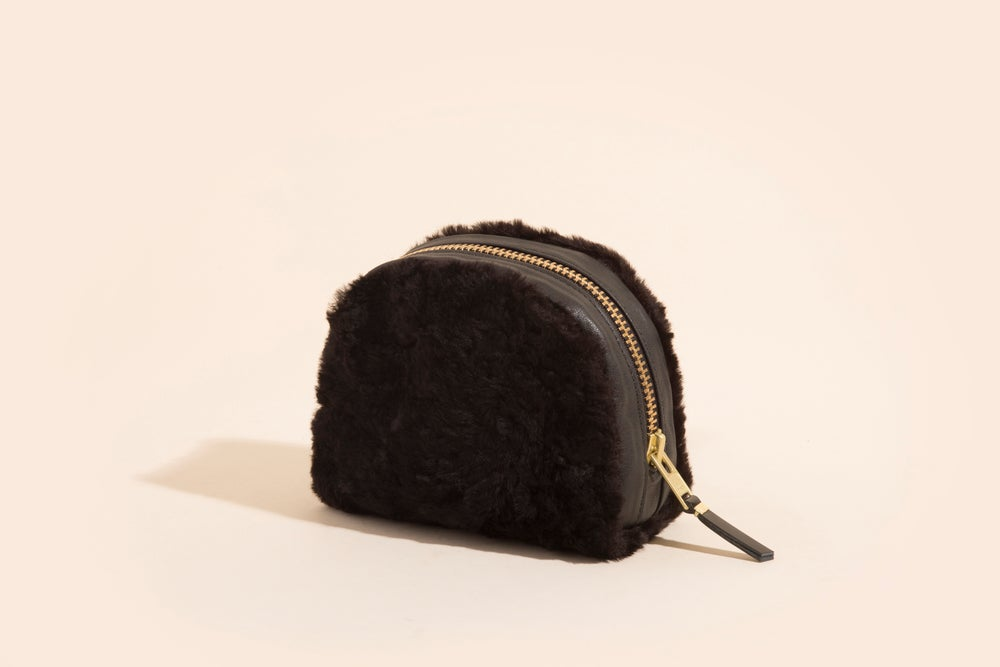 Image of Zip Pouch - Cowhide and Lamb