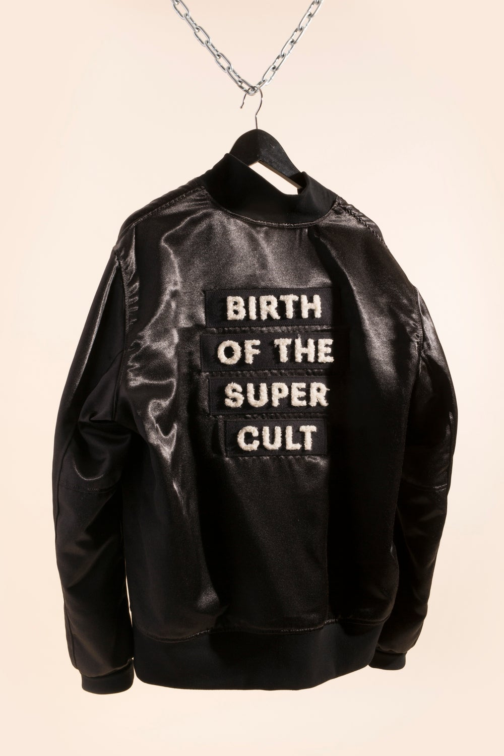Image of Unisex Varsity Jacket - Draught x OFC - Birth of the Super Cult