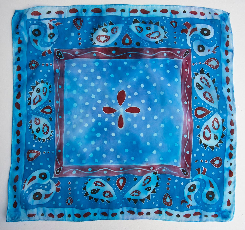 Image of Silk Bandanas - Prints of handpainted designs