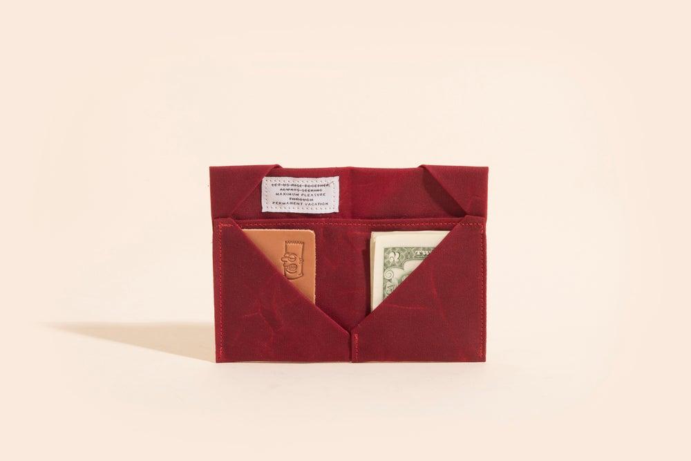 Image of Diamond Billfold - Brick Red