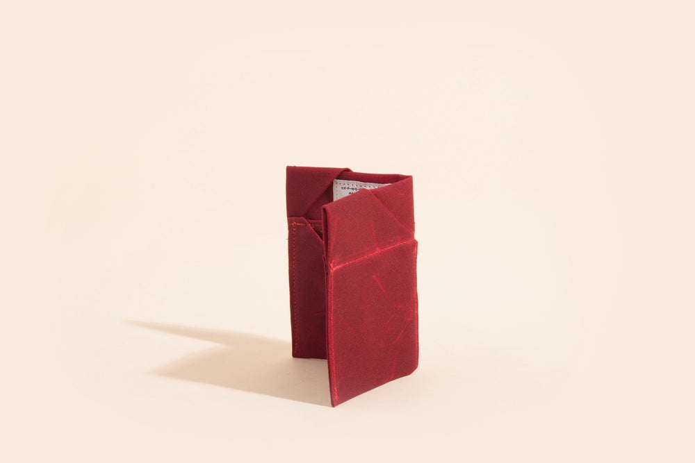 Image of Diamond Billfold - Brick Red