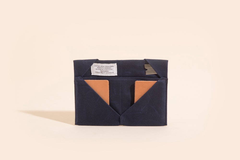 Image of Diamond Billfold - Navy