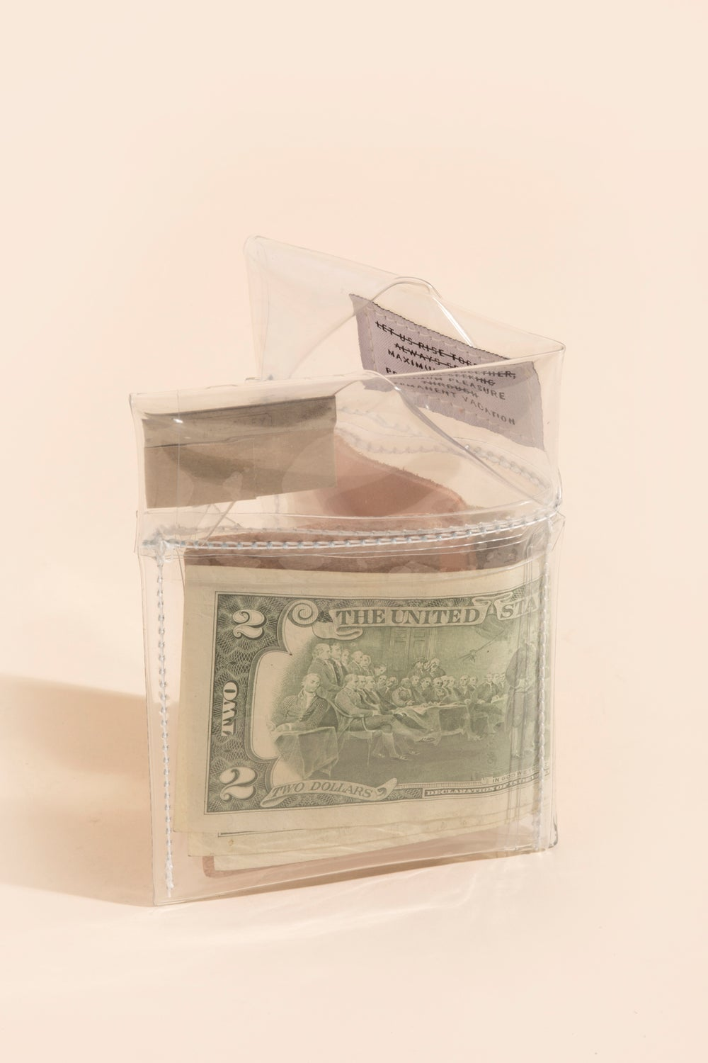 Image of Diamond Billfold - Clear Vinyl
