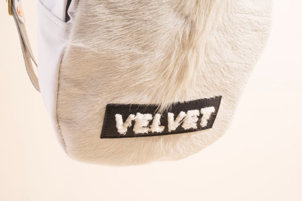 Image of Mini Backpack - Leather and Hair - Velvet