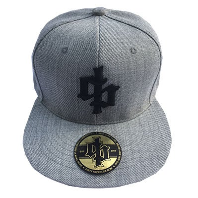 Image of Dirty Paper Dollar Sign Logo Snapback Baseball Cap Gray