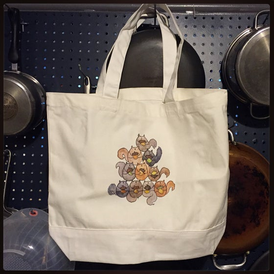 Image of squirrel tote pre-order