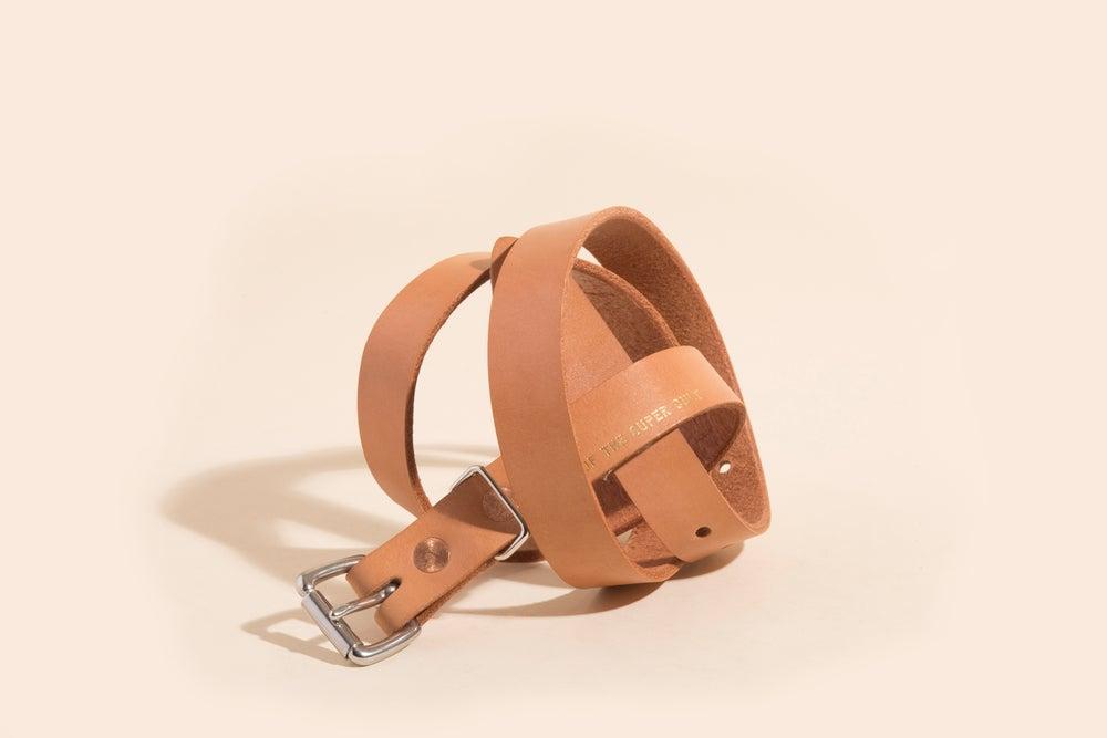 """Image of 1"""" Belt - Natural w/Foil Stamp"""