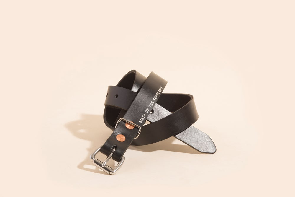 "Image of 1"" Belt - Black w/Foil Stamp"