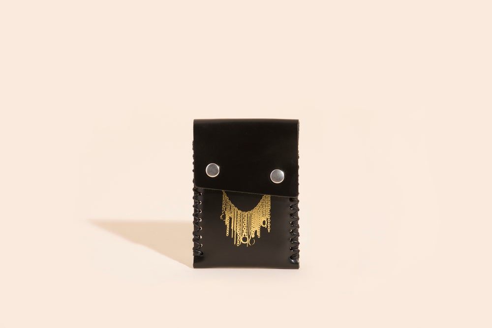 Image of Card Carry No. 02 - Black - Gold Chains