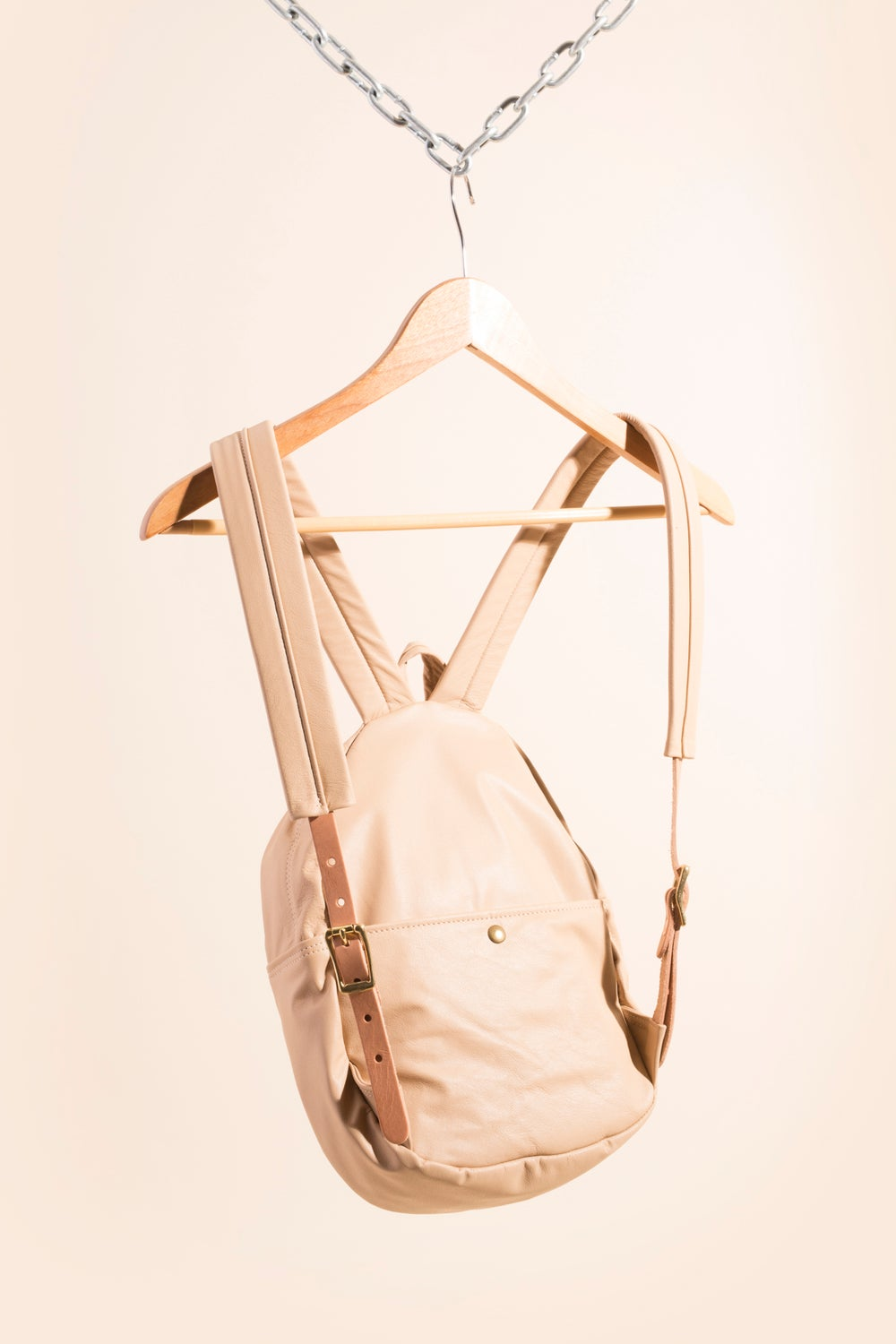 Image of Mini Backpack - Nude Leather