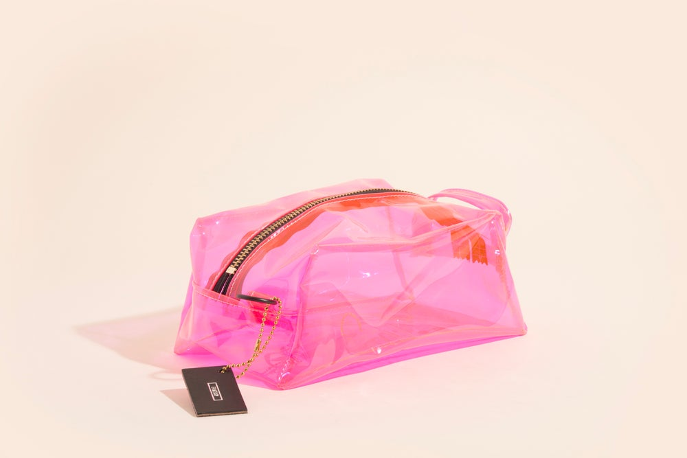 Image of Toiletry Kit - Pink Vinyl w/Foil Stamp