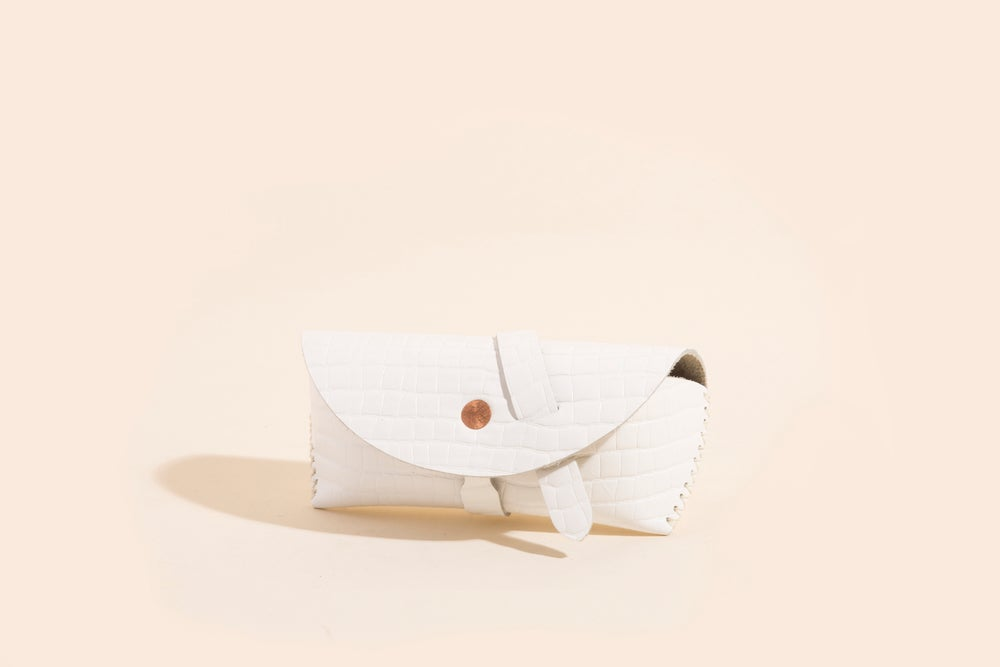 Image of Eyewear Case - Embossed Cowhide