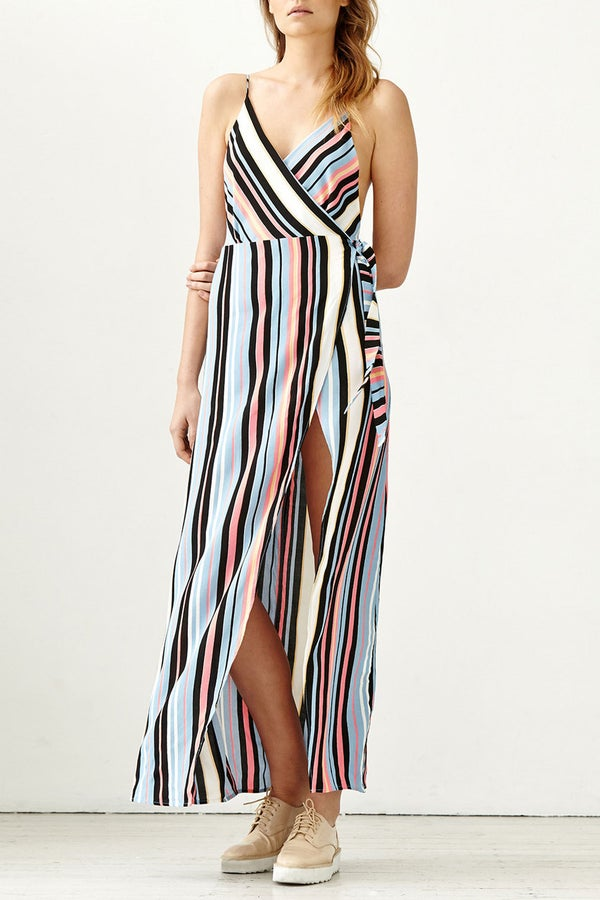 Image of Hendrix Maxi Dress - Harlequin Stripe