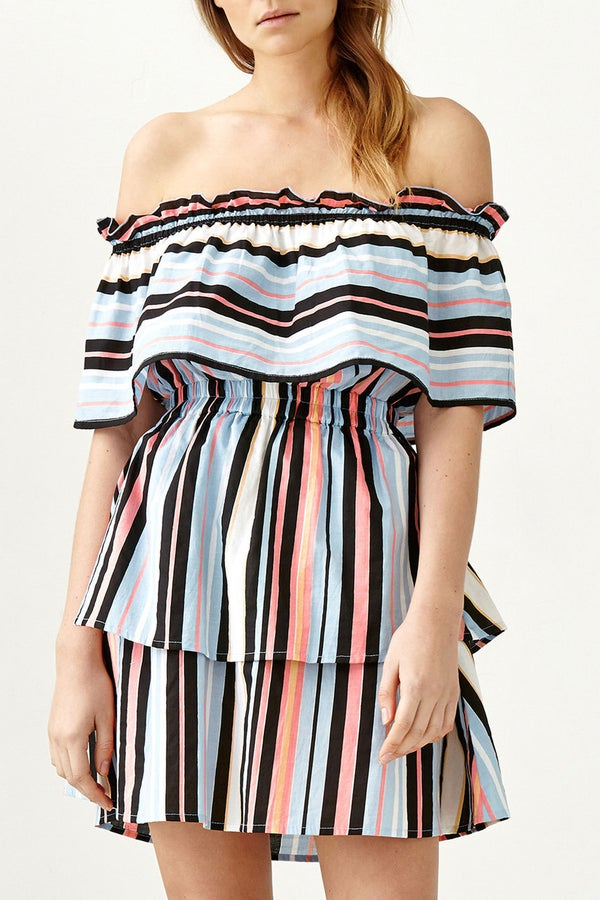 Image of Avery Dress - Harlequin Stripe