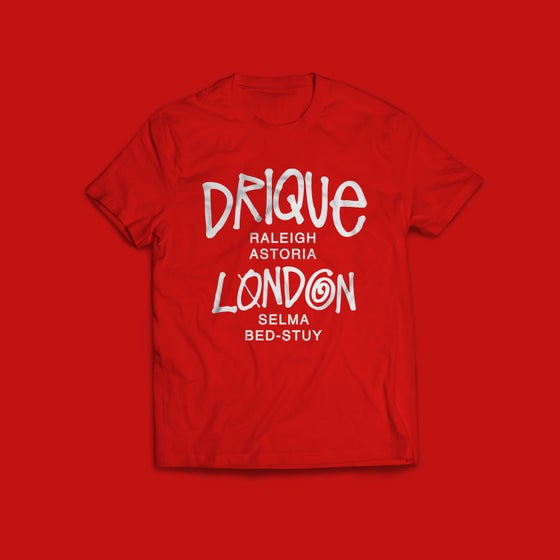 """Image of Drique London Drique London """"The Town"""" Tee (RED)"""