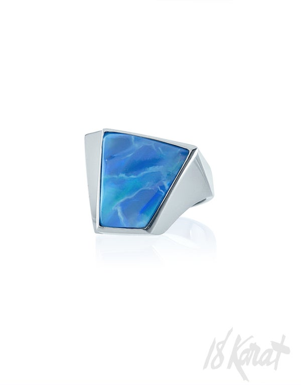 Rita's Black Opal Ring - 18Karat Studio+Gallery