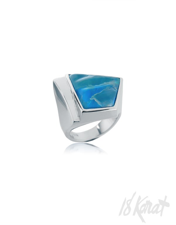 Rita's Black Opal Ring - 18Karat Studio+Gallery