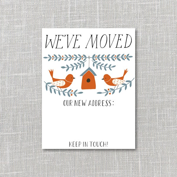 Image of Moving Announcement Printable Instant Download PDF