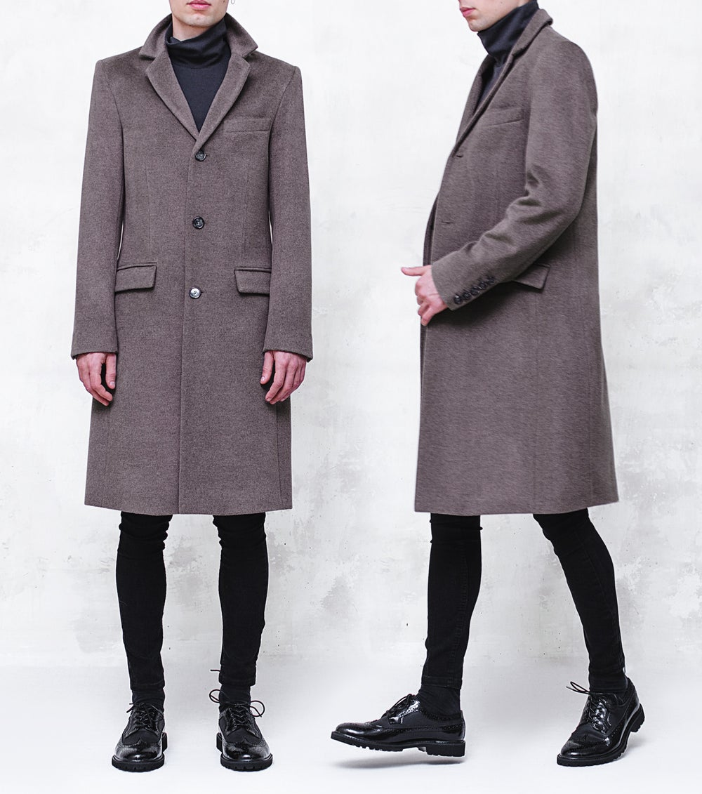 Image of LIMITED EDITION | Taupe Gray Fleece Wool Coat