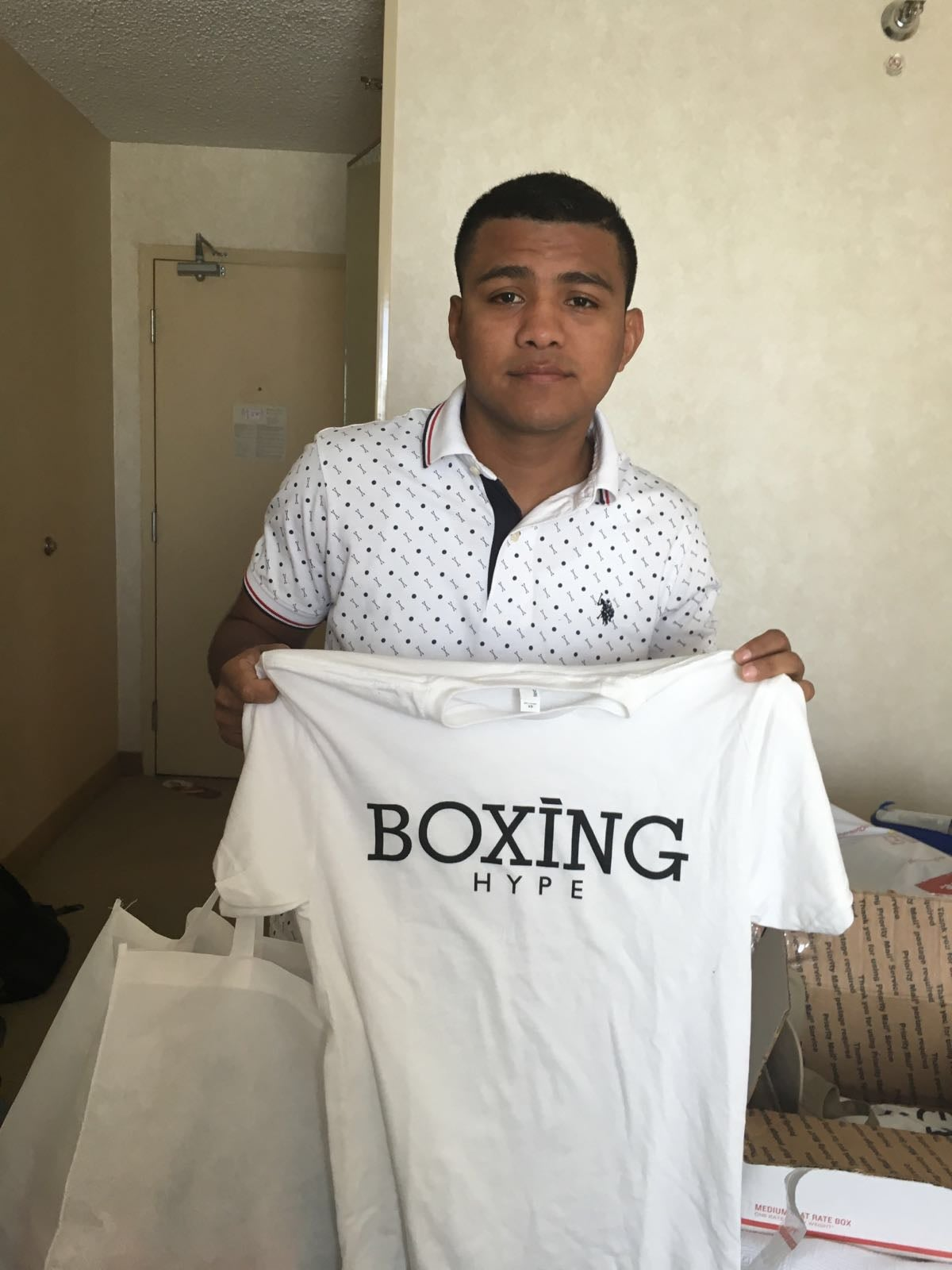 Image of White Men's BoxingHype logo tees