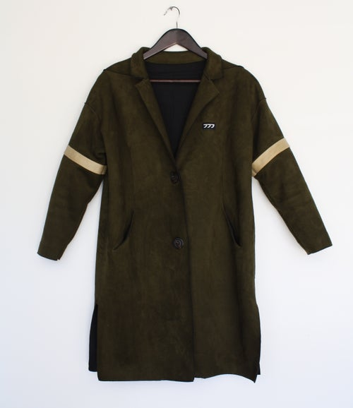 Image of Dark Swamp ultra-suede Coat