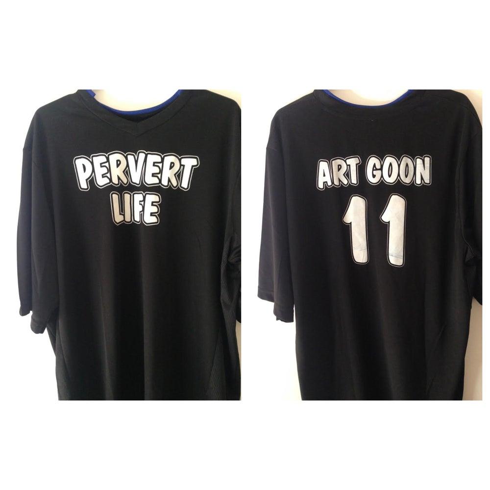 Image of PERVERT LIFE Black & White soccer jersey