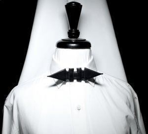 Image of Embossed spike stud bow tie