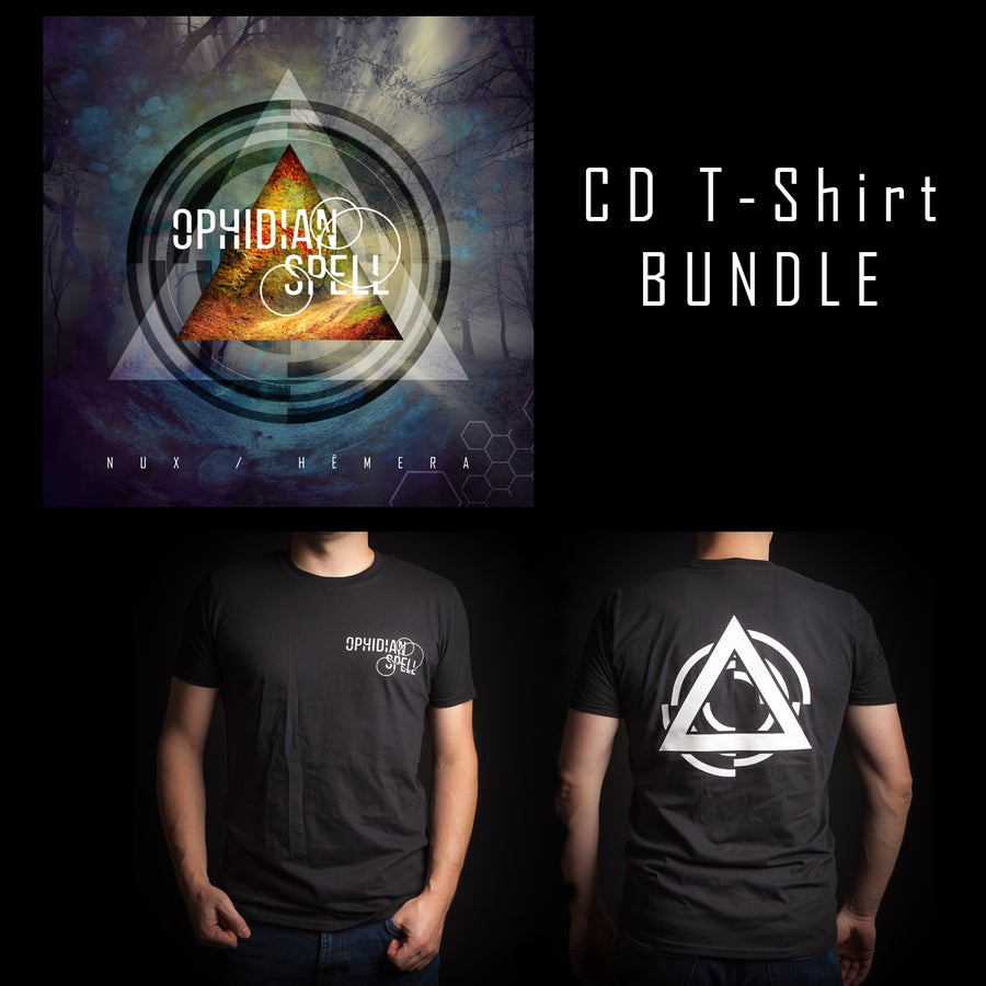 Image of Bundle Nux / Hêmera CD + T-Shirt (+ EP Free)