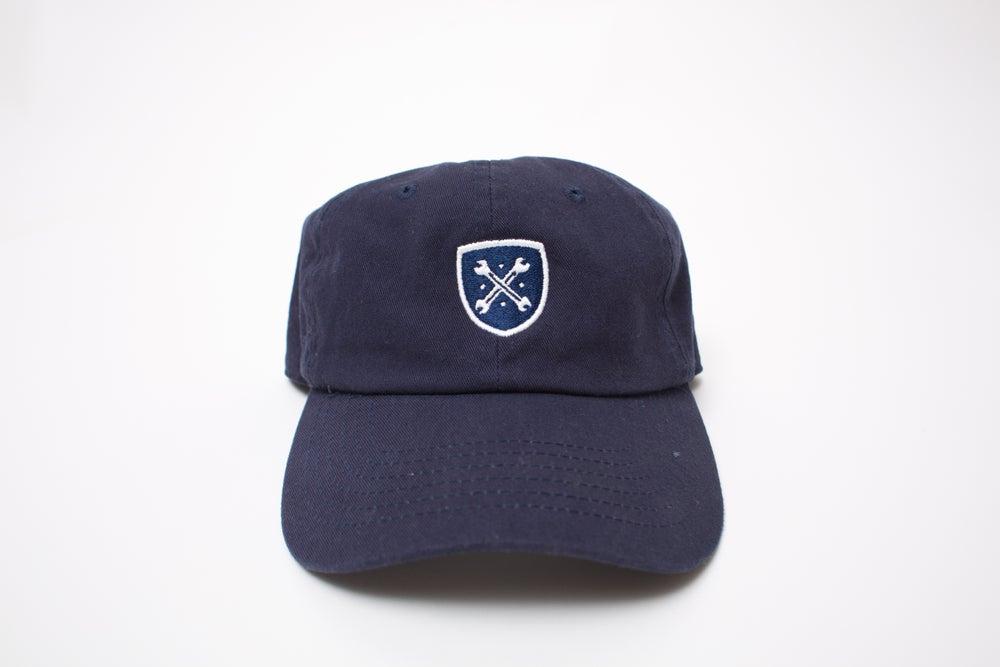 """Image of Navy Logo """"Dad"""" Hat"""