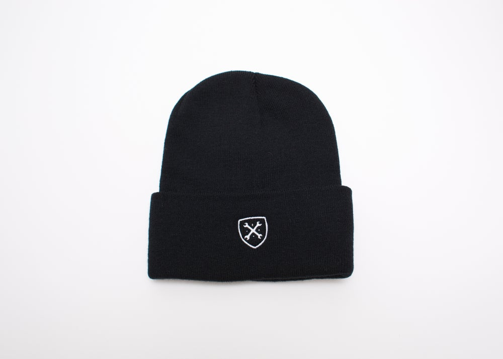 Image of MANIACS Black Beanie