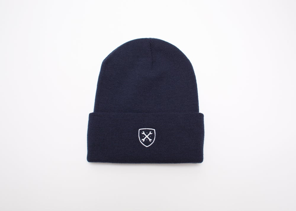 Image of MANIACS Navy Beanie