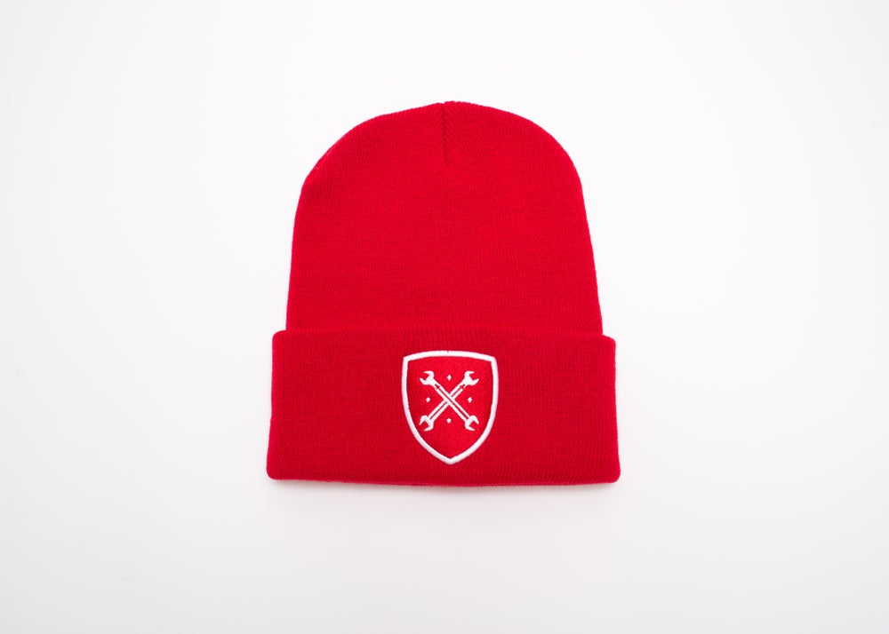 Image of Red Logo Beanie