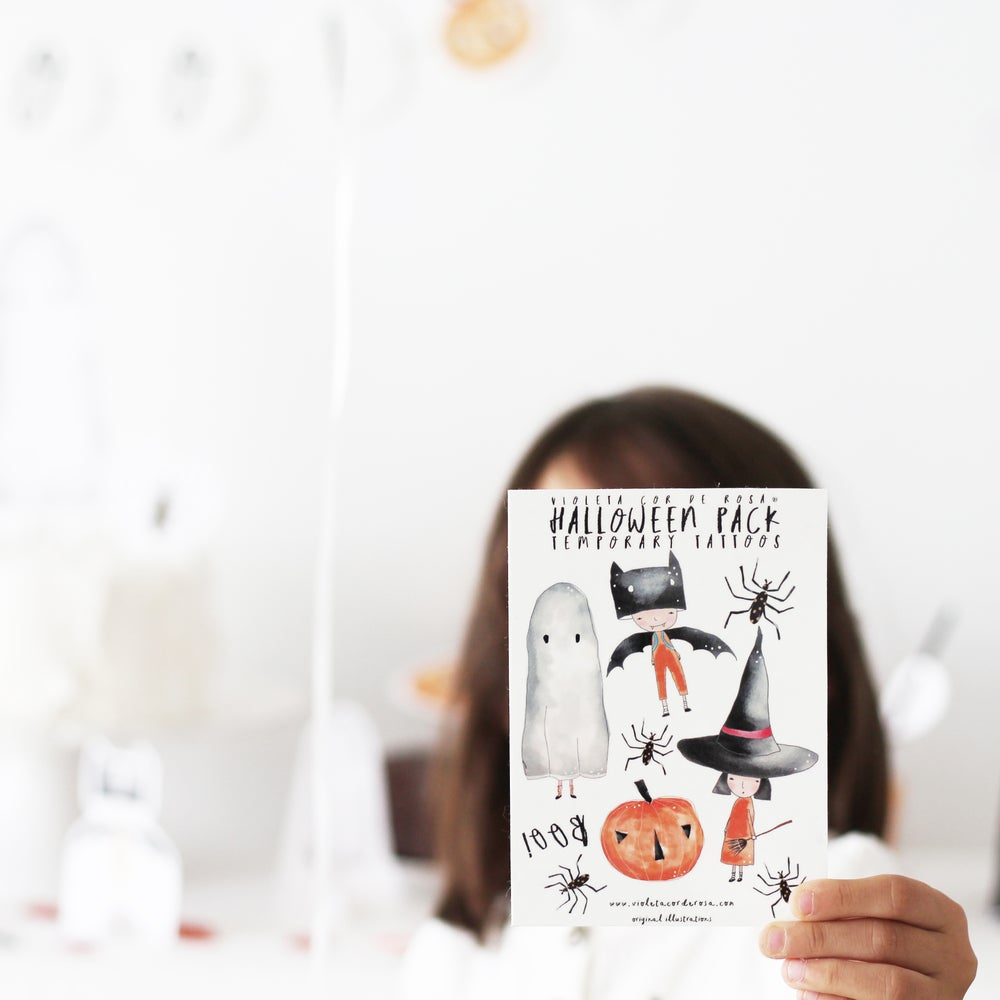 Image of HALLOWEEN TEMPORARY TATTOOS