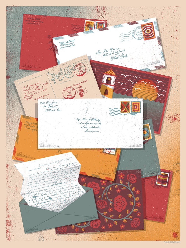 Image of Letters From Home art print