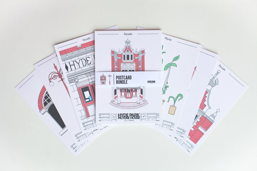 Image of Cinema Illustration Postcard Bundle